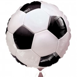 Soccer Round foil balloon