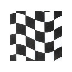 Black and White Celebration Serviettes (5 pack)
