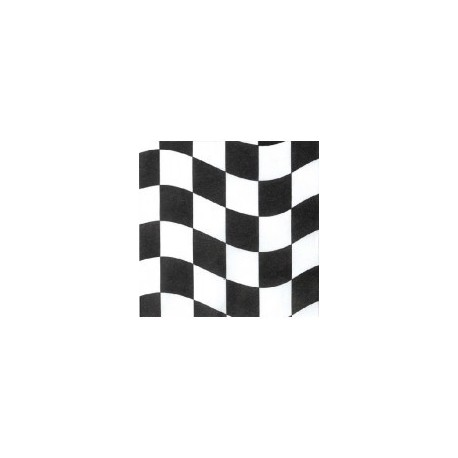 Black and White Checkered Serviettes (20 pack)