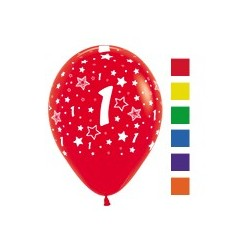 Number 1 Latex Balloons.