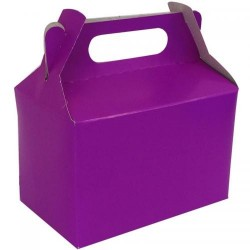 Purple Party Boxes (Pack of 5)
