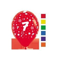 Number 7 Latex Balloons