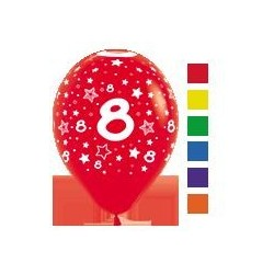 Number 8 Latex Balloons