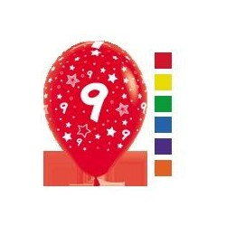 Number 9 Latex Balloons
