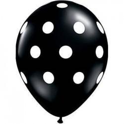 Black Polka Dot Balloon x 1