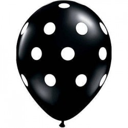 Black Polka Dot Balloon x 1