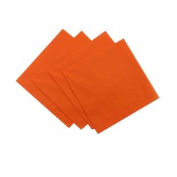 Orange Serviettes (pack of 10)