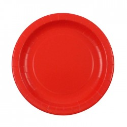 Solid red paper plates