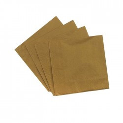 Gold Serviettes (pack of 10)