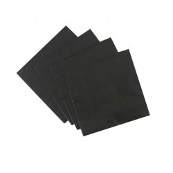Black Serviettes (pack of 10)
