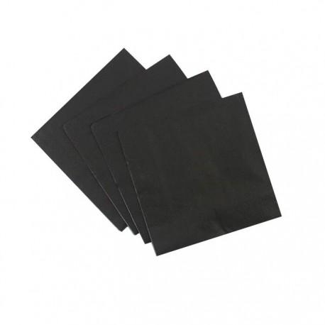 Black Serviettes (pack of 10)