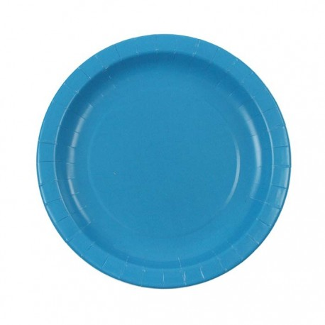 Turquoise Paper Plates (pack of 8)