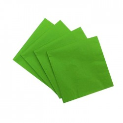 Light Green Serviettes (pack of 10)