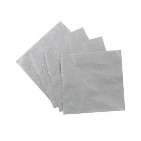 Silver Lunch Serviettes (pack of 20)
