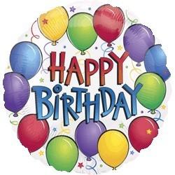 Balloon Fun Birthday foil x 1