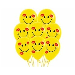 Smile and kisses print Balloon 12 inch