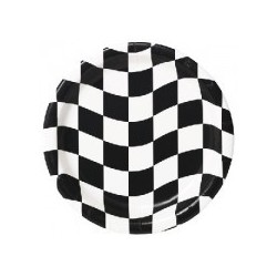 Checkered plates (pack of 8)