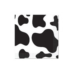 Cow print serviettes (pack of 10)