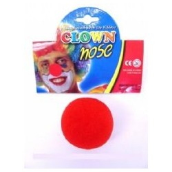 Red Clown Nose - Sponge x 1