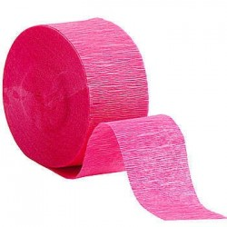 Hot Pink Streamers (pack of 6)