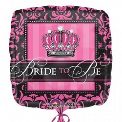 Crowned Bride to Be square foil x 1