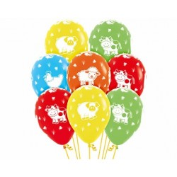 Farm Friends print latex balloons
