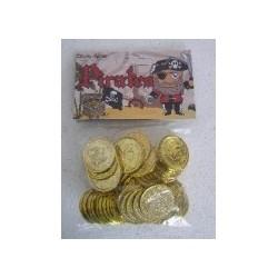 Plastic Pirate Coins - www.mypartysupplies.co.za