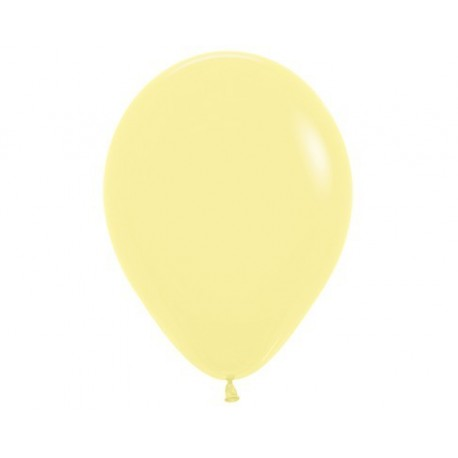 Plain Pastel Yellow Balloons- Inflate your balloons in store!
