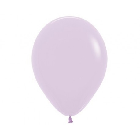 Plain Pastel Lilac Balloons - Inflate your Balloons in Store.