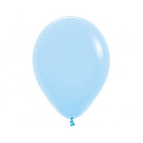Plain Pastel Blue Balloons - Inflate your balloons in store.