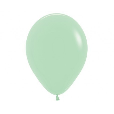 Plain Pastel Green Balloons - Inflate your balloons in store.