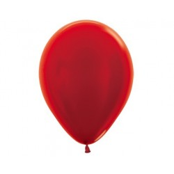 Plain Metallic Red Balloons - Inflate your balloons in store!