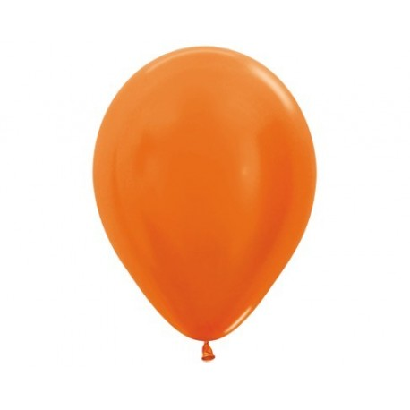 Plain Metallic Orange Balloons - Get your balloons inflated in store.