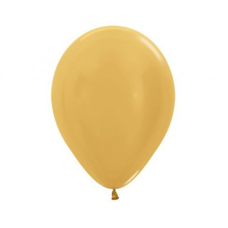 Plain Metallic Gold Balloons - Inflate your Balloons in store.