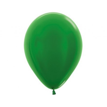 Plain Metallic Green Balloons - Inflate your Balloons in store.