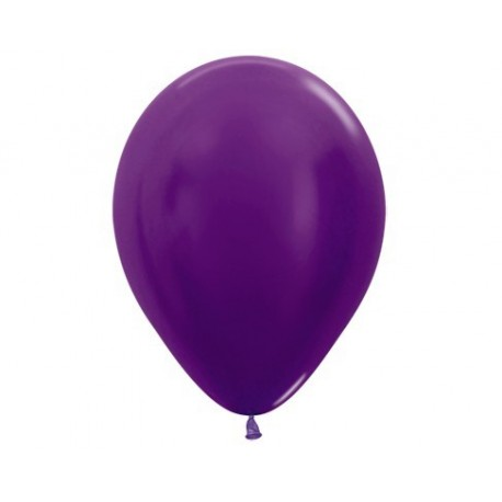 Plain Metallic Violet Balloons - Inflate your Balloons in store.