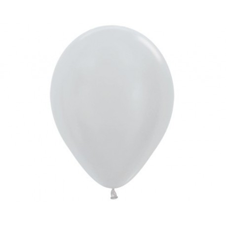 Metallic Silver Balloons - Inflate your balloons in store.