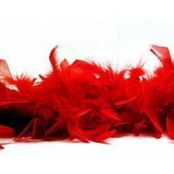Feather Boa 40g 1.8m Red
