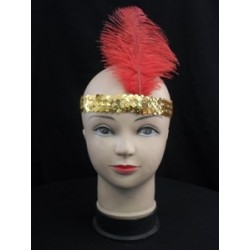 Pair this flapper headband with a boa and wig!