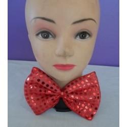 Bowtie Sequin Material Red 17cm