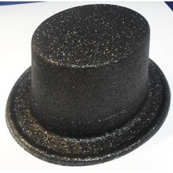 Top Hat Glitter Black