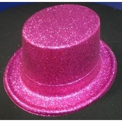Pink Glitter Top Hat - South Africa