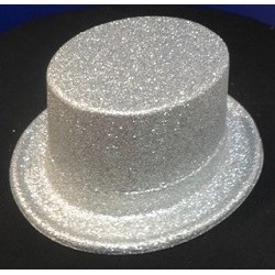 Silver Glitter Top Hat - South Africa