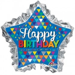 Happy birthday Star foil balloon - South Africa