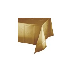 Gold plastic tablecloth - www.mypartysupplies.co.za