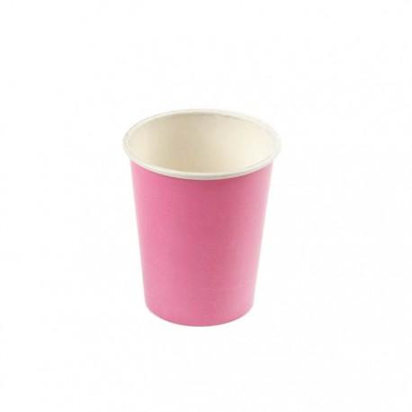 Plain pink paper cups