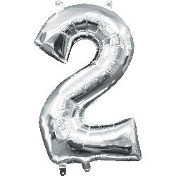 Silver 2 Supershape Foil Balloon