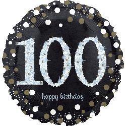 "18"" Holo: Sparkling Birthday 100 Foil Balloon"