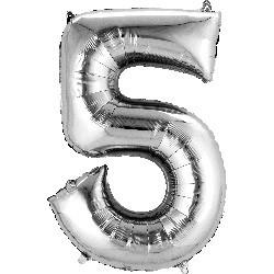 Silver 5 Supershape Foil Balloon
