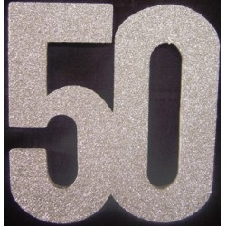 Poly 50th SIlver 30cm